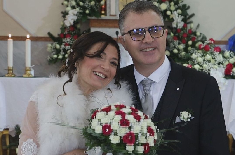 Tonia e Giuseppe si sposano in diretta streaming